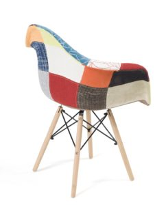 lot 2 chaises accoudoirs patchwork - NADOR