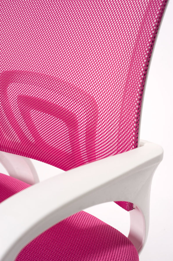 chaise-bureau-ergonomique-blanc-rose-kayelles