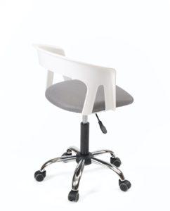 chaise-bureau-pas-cher-roulettes-accoudoirs-réglable-kayelles-blanc-gris-mesh