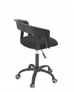 chaise-bureau-pas-cher-roulettes-accoudoirs-réglable-kayelles-noir-mesh