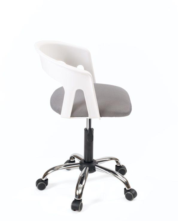 Chaise fauteuil Bureau Pas cher - Accoudoirs - réglable - Kayelles - Blanc et gris