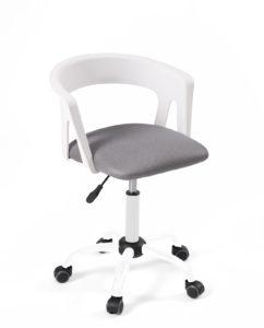 chaise-fauteuil-bureau-roulettes-accoudoirs-réglable-kayelles-blanc-gris-mesh