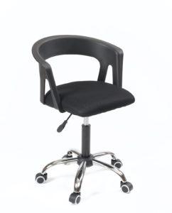 Chaise fauteuil de bureau à roulettes - Accoudoirs - réglable - Noir mesh