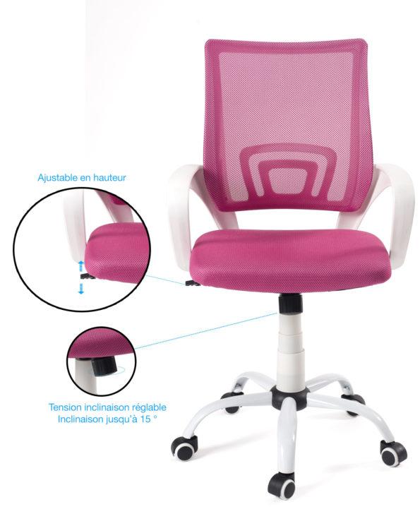 fauteuil-bureau-flag-chaise-bureau-ergonomique-rose-blanc-kayelles