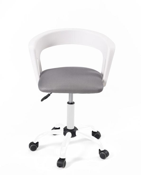 fauteuil-chaise-bureau-roulettes-accoudoirs-réglable-kayelles-blanc-gris-mesh