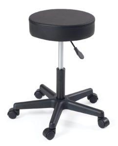 tabouret bureau - bricolage - atelier - pivotant 360 - reglable en hauteur -pas cher - noir