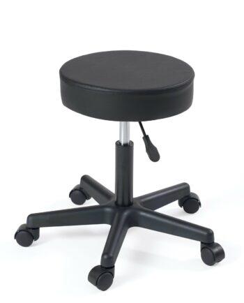 tabouret à roulettes - pivotant 360 - reglable en hauteur- pas cher - noir