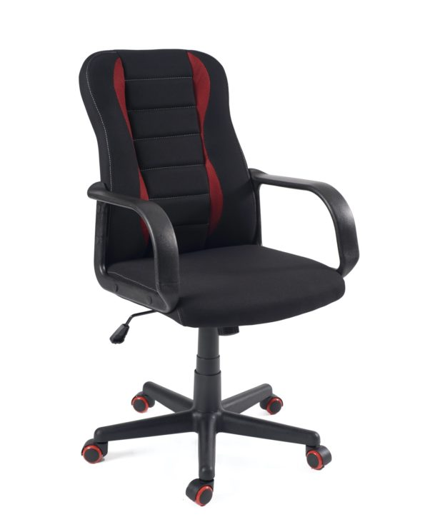 chaise de bureau ergonomique, fonctionnelle - Mesh noir et rouge - Fast