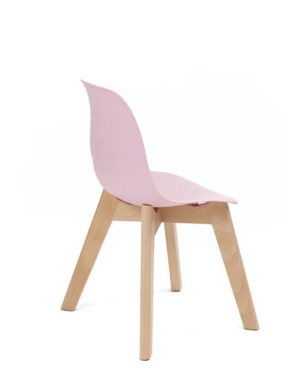 chaise enfant Scandinave - kids - lot de 2 - Rose