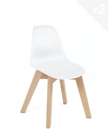 Chaise enfant Scandinave - blanc - JUBA Kayelles
