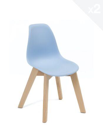 Chaise enfant Scandinave - bleu - JUBA Kayelles