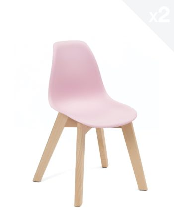 Chaise enfant Scandinave - rose - JUBA Kayelles