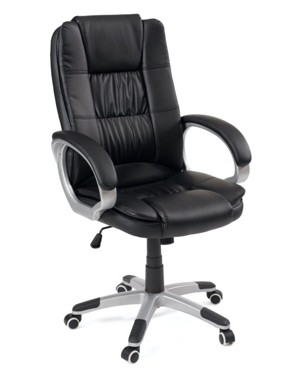 Chaise ordinateur, fauteuil de bureau ergonomique, réglable - Noir, Kayelles