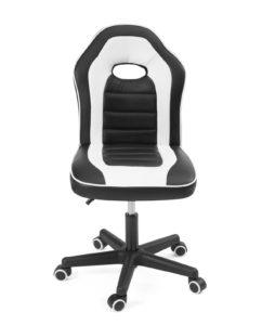 Chaise racing bureau enfant, junior - Kayelles - Games, ordinateur - Noir et blanc
