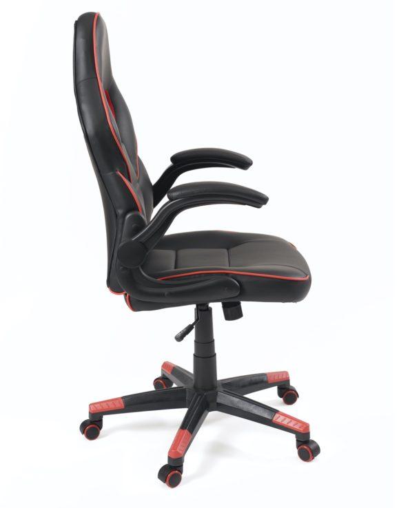 fauteuil-chaise-ordi-racing-reglable-pivotant-accoudoirs-amovibles-BAJA-noir-rouge