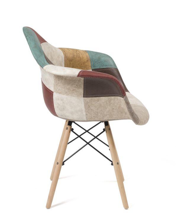 fauteuil-daw-scandinave-patchwork-nador-marron-kayelles