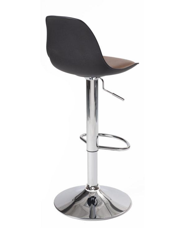 Tabouret de Bar-chaise-haute-design-cuisine-sig-noir-marron