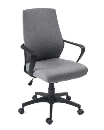 chaise-bureau-ergonomique-fauteuil-ordinateur-FEMI-tissu-gris