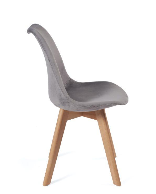 chaise-design-pas-cher-velours-gris-fonce-kayelles