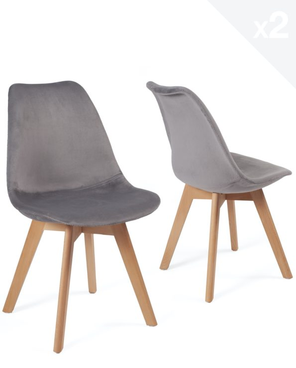 chaise-design-scandinave-velours-lot-2-gris-foncé