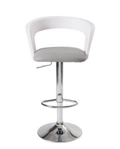 chaise haute de Bar - cuisine - Ergonomique, Blanc et gris
