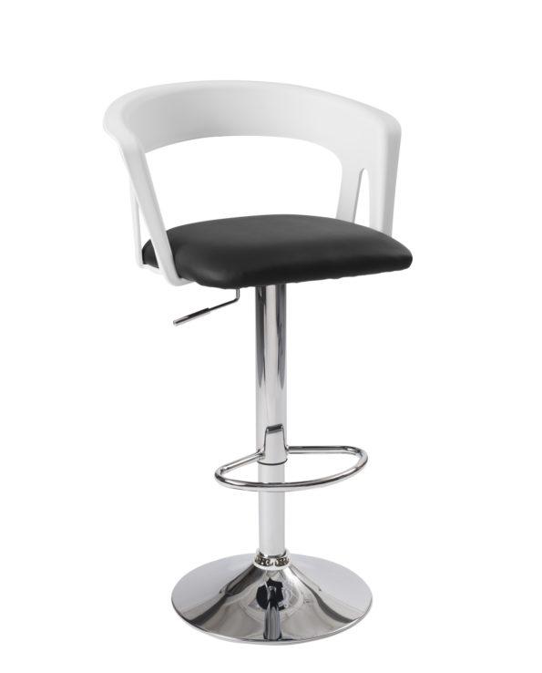 chaise haute de Bar - cuisine - Ergonomique, Blanc et noir