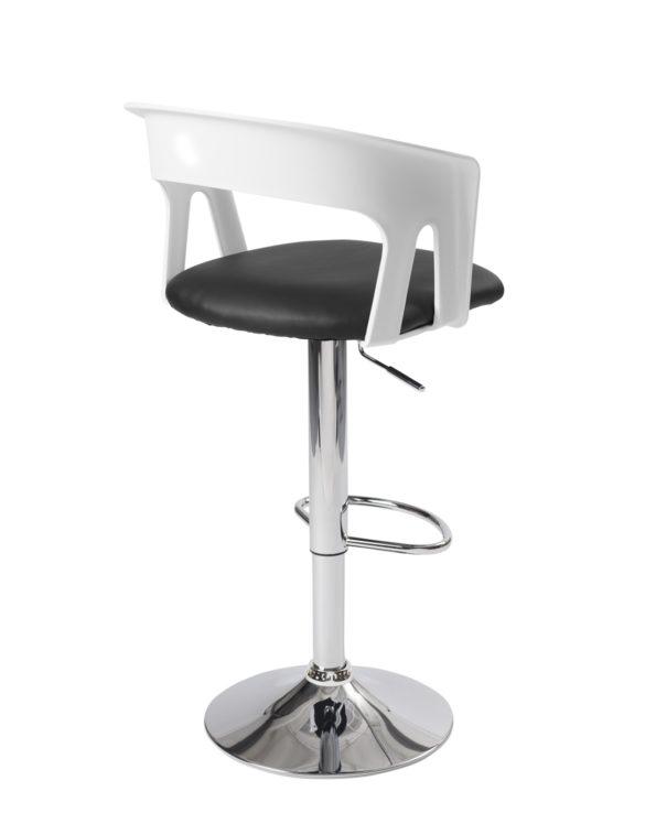 chaise-haute-Bar-cuisine-dossier-ergonomique-accoudoirs-Lot-2-AYO-blanc-noir