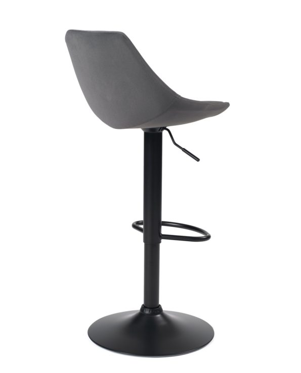 chaise-haute-bar-design-velours-gris-clair-sono-kayelles