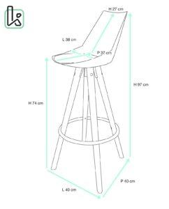 chaise-haute-scandinave-bois-velours-kayelles-tailles