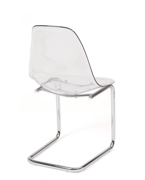 chaise-restaurant-salle-manger-transparent-chrome-design-lot-2-meo