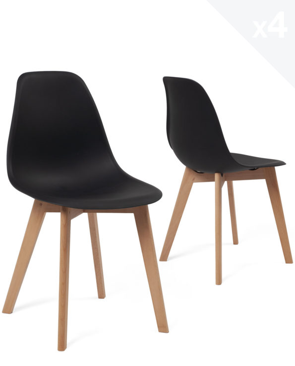 chaise-scandinave-pas-cher-lot-4-nao-kayelles-noir