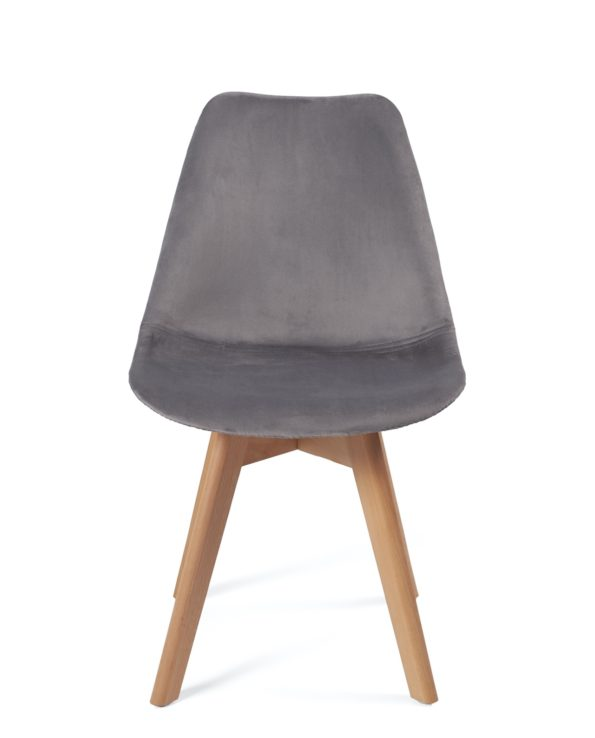 chaise-scandinave-pas-cher-velours-gris-fonce-kayelles