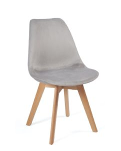 chaise-scandinave-velours-design-kayelles-gris-clair