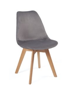 chaise-scandinave-velours-design-kayelles-gris-fonce