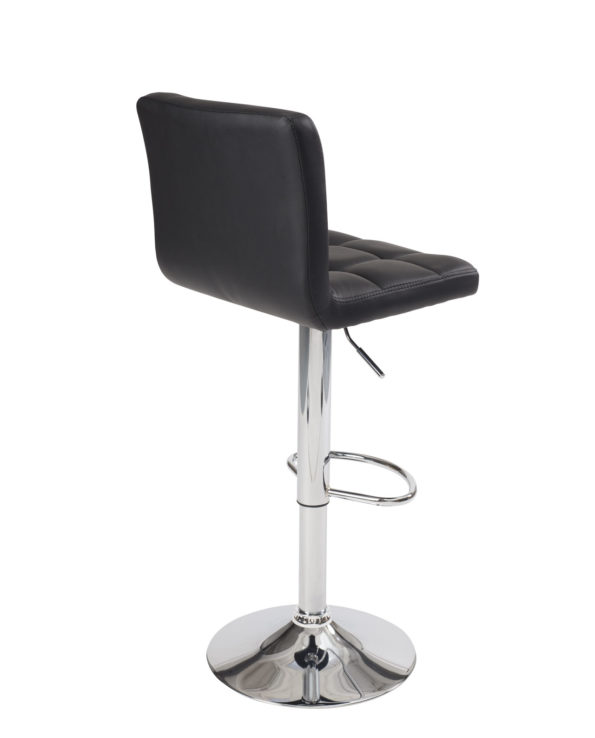 Chaise de bar Haute, matelassée- Noir - SIVAN