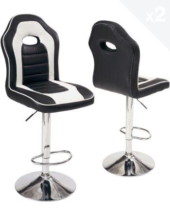 lot-2-chaises-bar-racing-siege-baquet-BENI-noir-blanc