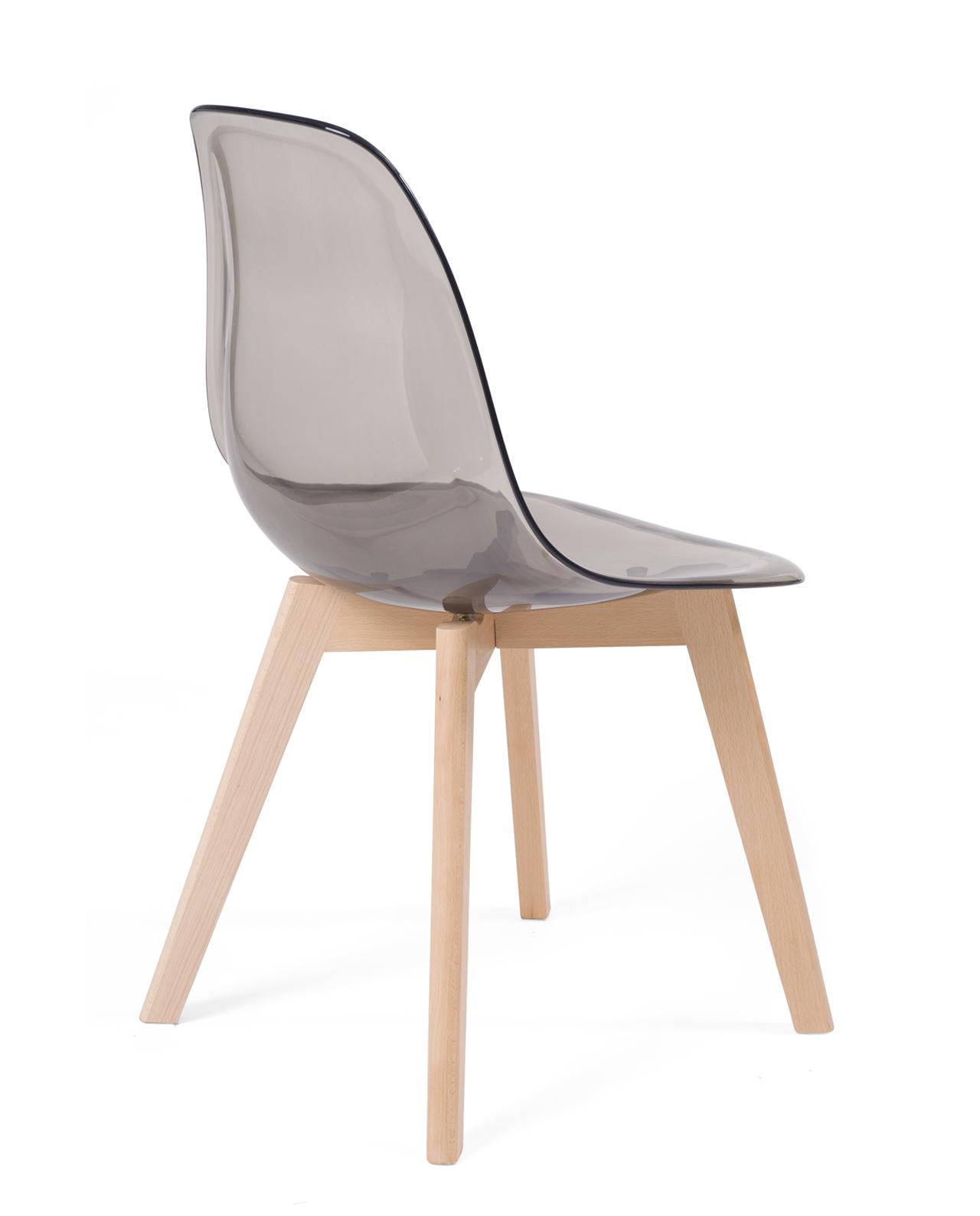 Chaise scandinave transparente lao lot de 2 Chaise scandinave transparente casa