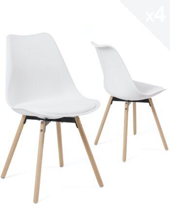 lot-4-chaises-scandinaves-pied-bois-coussin-cuisine-salle-manger-MIA-blanc
