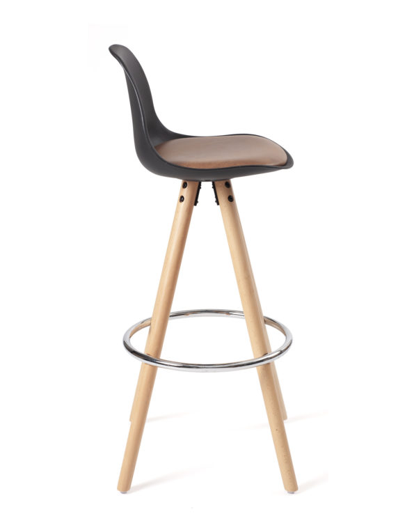 tabouret-bar-design-cuisine-scandinave-noir-marron