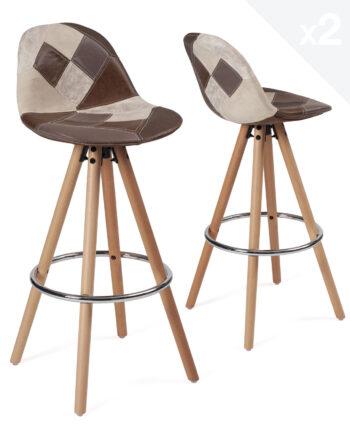 tabouret-bar-scandinave-chaise-haute-patchwork-marron copy