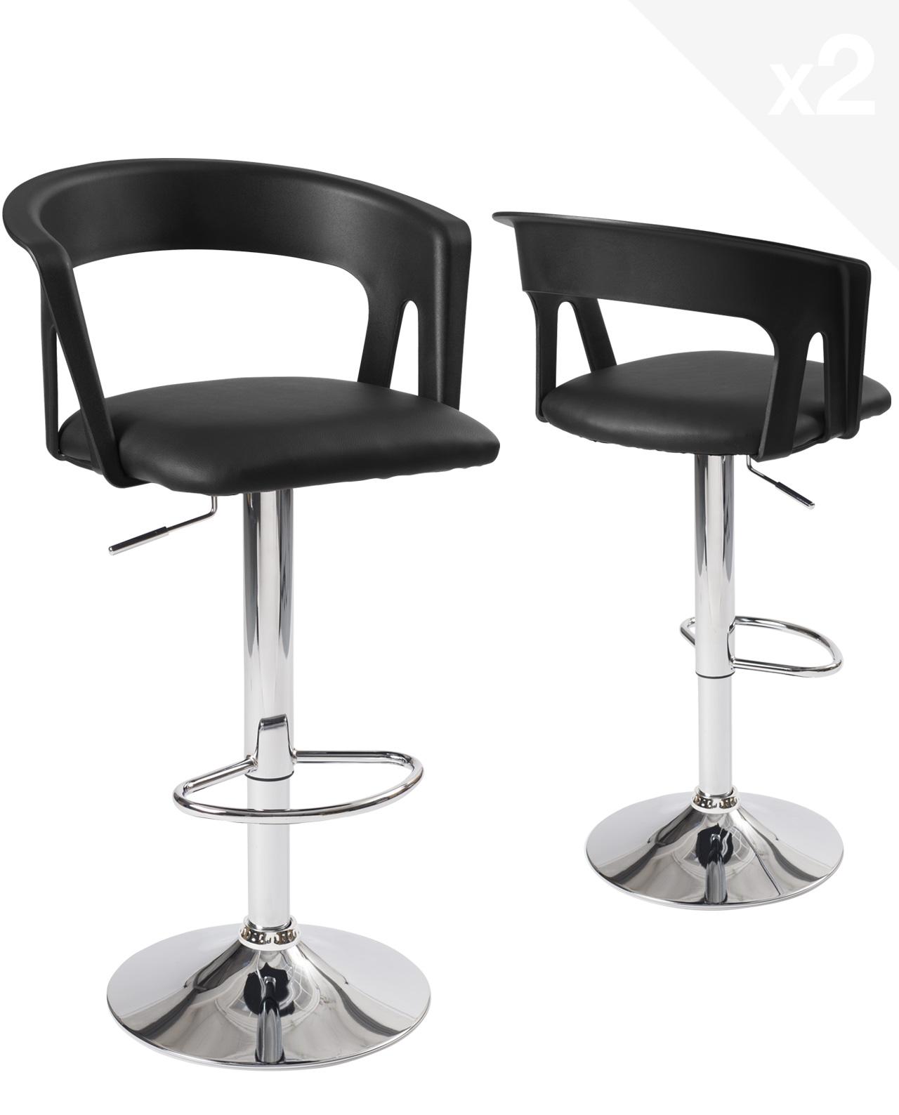 Comptoir ou Cuisine,Beige Tabouret pivotant R/églable et Adjustable pour Bar Leader Accessories,Lot de 2 Coquille Tabourets de Bar avec Diagonal Line