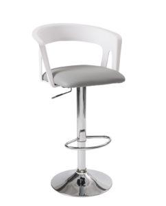 tabourets-Bar-cuisine-dossier-ergonomique-Lot-2-hauteur-reglable-assise-rembourree-accoudoirs-kayelles-blanc-gris
