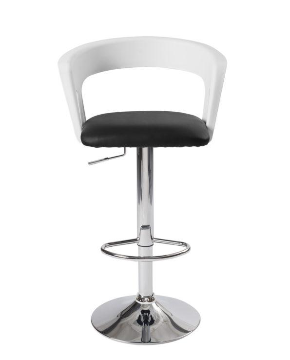 tabourets-Bar-cuisine-dossier-ergonomique-Lot-2-hauteur-reglable-assise-rembourree-accoudoirs-kayelles-blanc-noir