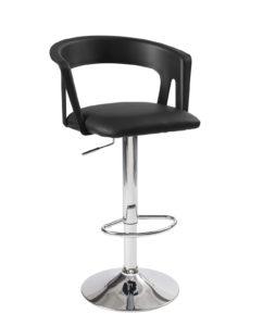 tabourets-Bar-cuisine-dossier-ergonomique-Lot-2-hauteur-reglable-assise-rembourree-accoudoirs-kayelles-noir