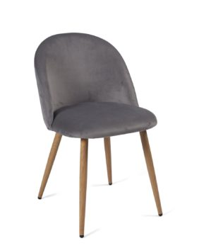 chaise-cocktail-velours-gris-fonce-scandinave-vintage