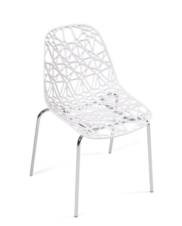 chaise-cuisine-design-dentelle-pas-cher-IKO-blanc