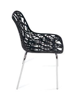 chaise-cuisine-pas-cher-lot-4-noir