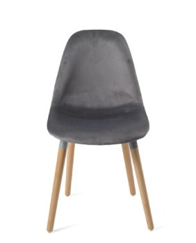 chaise-design-scandinave-bois-velours-gris-lot-4