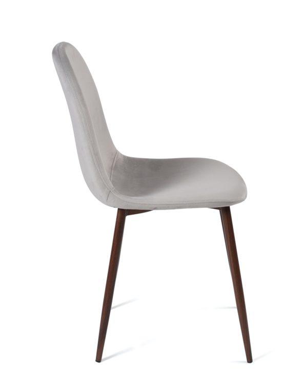 chaise-design-velours-gris-clair-pas-cher-kayelles