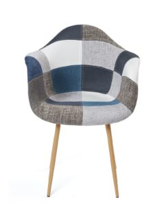chaise-scandinave-accoudoirs-patchwork-bleu-gris